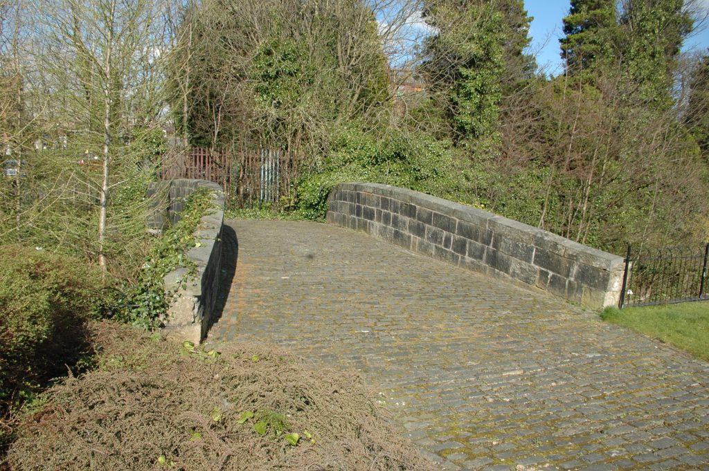 The old bridge which carried the Paisley to Foxbar road over the Canal.  Tannahills hole is just to the right of the bridge.