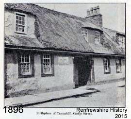Tannahill's Birth Cottage